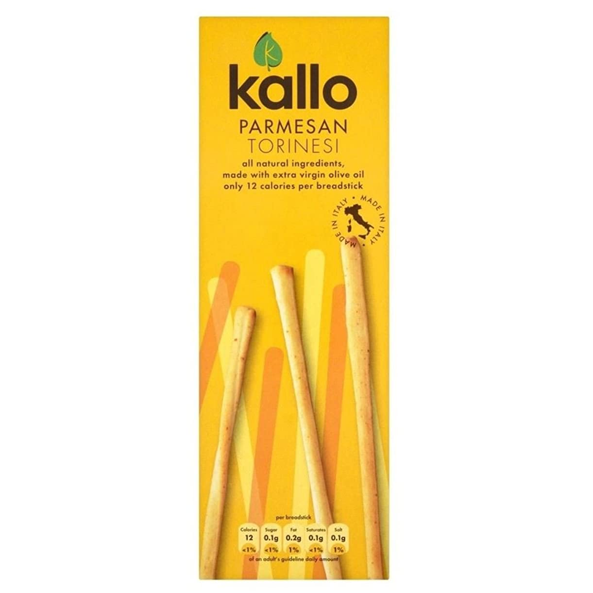 Kallo Torinesi Thin Breadsticks Parmesan Cheese (125g) - Pack of 6 jpmoq8817