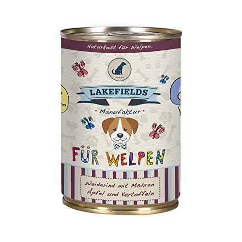 Lakefields Hochwertiges Premium Welpen Hundefutter Rind (1 x 400g)