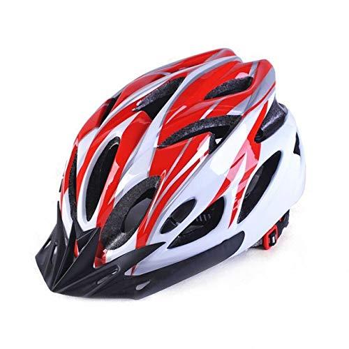 IAMZHL Mountain Offroad Fahrradhelm Leicht atmungsaktiver Unisex Verstellbarer Kopfschutz Fahrradhelm Fahrradhelme-Red-b5