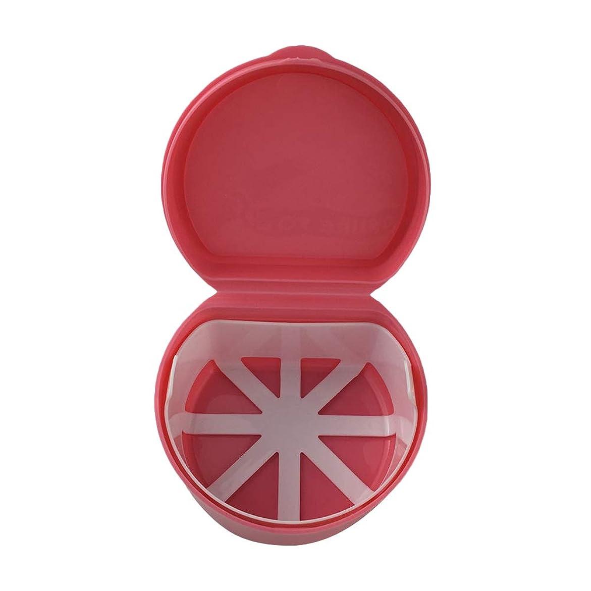 それぞれ堀爆風ROSENICE プラスチックの偽の歯バスボックスリテーナーマウスガードストレージコンテナホルダー(ピンク)
