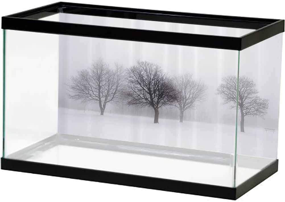 Fees free Winter Decorations Fish Tank Max 54% OFF Poster Scene Foggy Backdrop