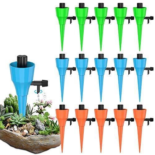 SUNGYIN Automatisch Bewässerung Set 15 Stück Einstellbar Bewässerungssystem Topfpflanzen Garten zur Pflanzen Blumen Zimmerpflanzen Bewässerung Urlaubsbewässerung Passend für die meisten Flaschen