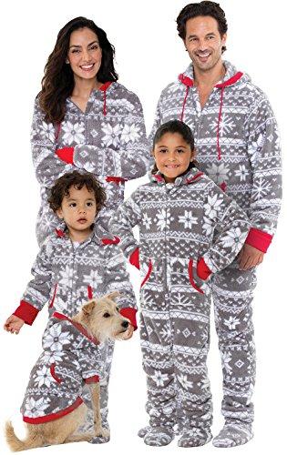 Pajamagram Family Pajamas Matching Sets - Christmas Onesie, Gray, Pets, MD