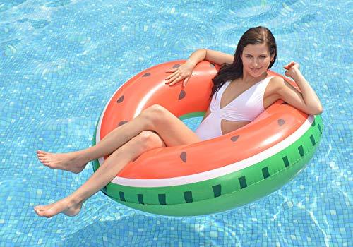 PlayFunWater Jumbo Wassermelone - Aufblasbarer Schwimmring