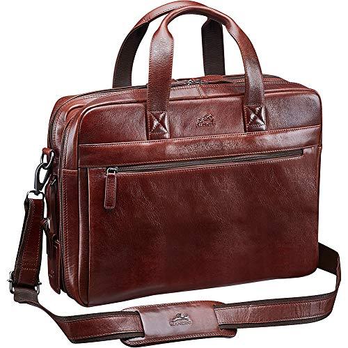 Mancini Leather Goods Vanizia Laptop/Tablet Double Compartment Briefcase with