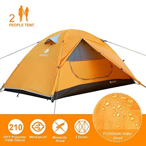 V VONTOX Tente 2 Personnes, Tente de Camping Dôme Ultra Légère, Facile à Installer Imperméable...