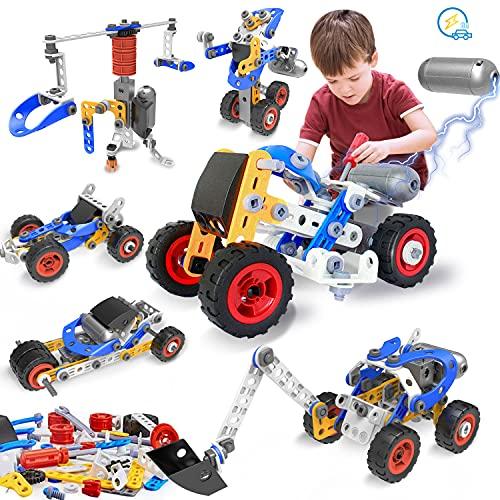 HISTOYE 10-in-1 Stem Building Kit Toys for Boys 5-7 Motorized Stem...
