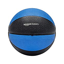 cheap Amazon Basics Workout Fitness Exercise Weighted Fitness Ball – 10 lbs Blue  Black