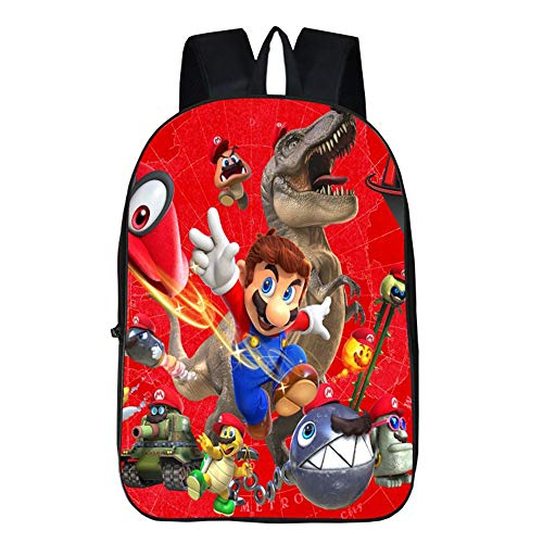 Super Mario Freizeit Rucksack Cartoon Druck Rucksack Reisetasche Schulrucksack Super Mario Kinderrucksäcke (Color : A6, Size : 29 x 16 x 42cm)