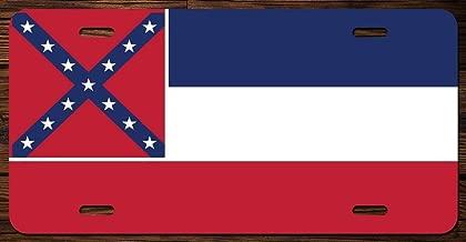 Mississippi State Flag Vanity Front License Plate Tag Printed Full Color KCFP015