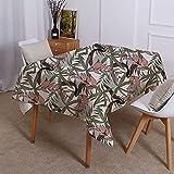 XXDD Mantel geométrico con patrón de Plantas Tropicales, decoración Moderna de Estilo hogareño, Mantel Impermeable de Lujo Ligero A9 140x140cm