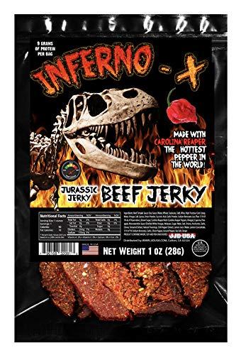 INFERNO X Carolina Reaper Jerky – Hot Beef jerky with...