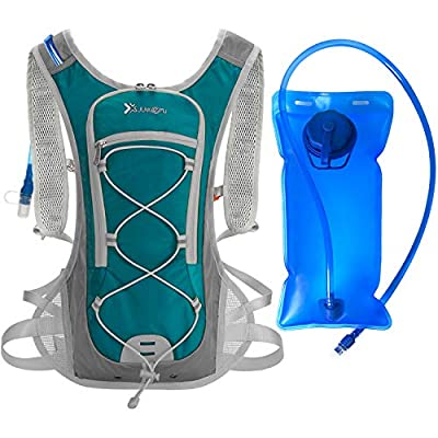 WANOSS Hydration Backpack with 2L 70 oz Water Bladder, Lightweight Nylon Hydration Pack, Outdoor Sport Water Backpack for Cycling Running Bike Hiking Climbing (Lake Blue)