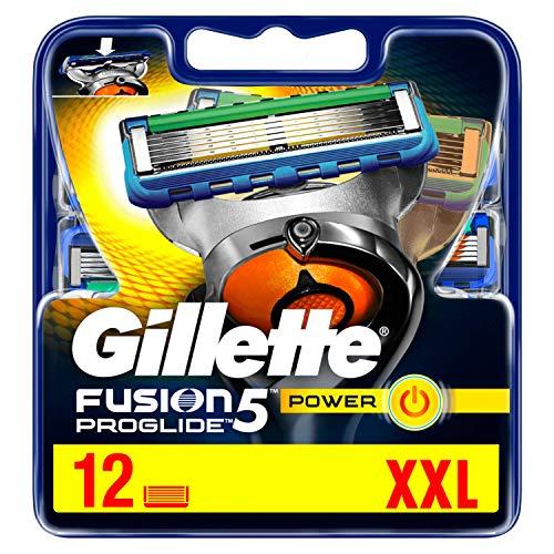 Gillette Fusion 5 ProGlide Power Rasierklingen mit Trimmerklinge für Präzision und Gleitbeschichtung, 12 Ersatzklingen