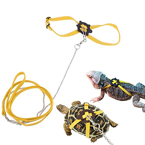 Yitaocity Small Animals Harness Leash Strap Collar Walking Lead Control Rope for Turtle/Lizard, Small Pet Reptile (L)