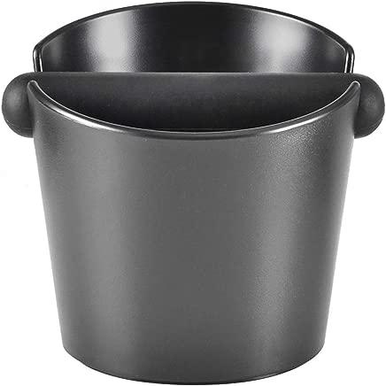 Espresso Knock Box, Coffee Knock Box for Barista ABS Coffee Grind Knock Box Espresso Dump Bin Grind Waste Bin with Detachable Knock Bar (Black)