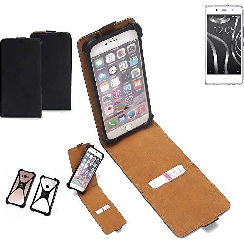 K-S-Trade® Handy Schutz Hülle Für BQ Readers Aquaris X5 Plus Schutzhülle Bumper Schwarz 1x