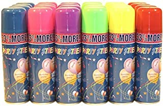 24 Party Streamer String Cans in Display Box - Silly Fun Party Novelty Item by Los Angeles Superstore