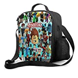 Ro-Blox Lunch Bag Tote Bag Lunch Box Insulated Container for Boys Girls School Travel Picnic