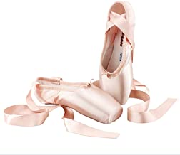 Alician Adult Kids Ballet Shoes Satin Girls Women Professional Dance Shoes with Ribbons