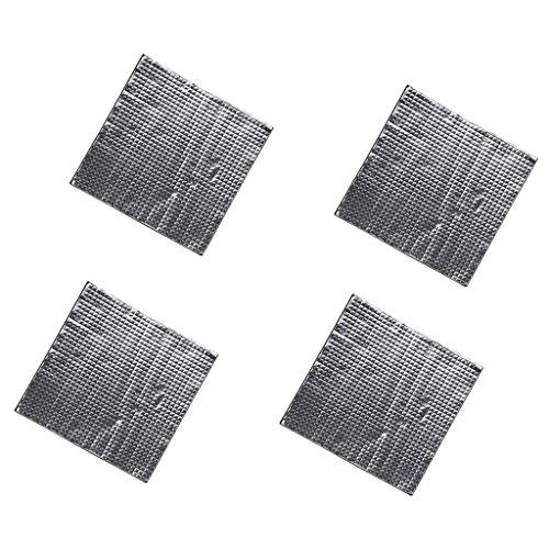 Toygogo 4 Unids/Lote Impresora 3D Cama Caliente Aislante Térmico Algodón Estera de Aislamiento Térmico 300 * 300 Mm