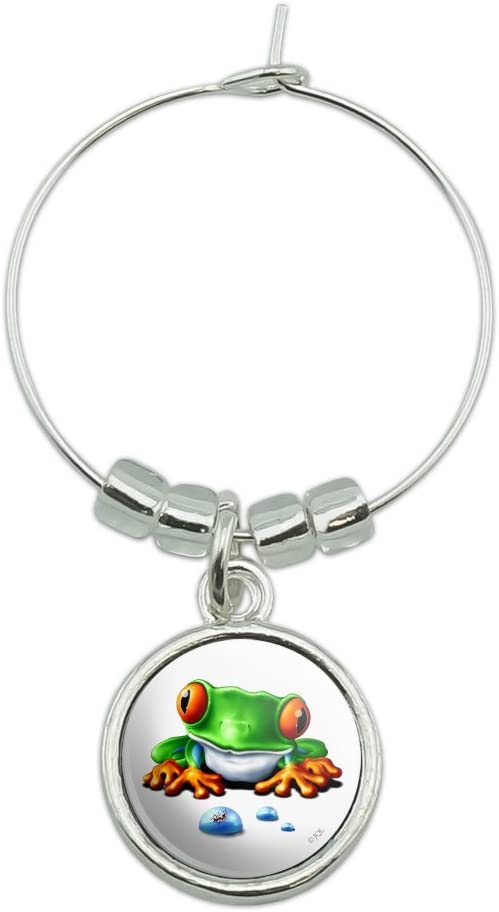 Rainforest Red Eyed Tree Max 51% OFF Frog and Glass Charm Ant Wine Outlet ☆ Free Shipping Mar Drink