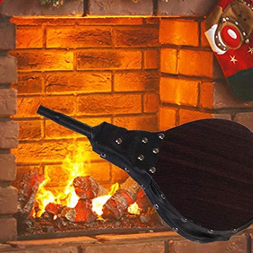 Brownrolly Blaasbalg Houten open haard Balg-handmatige luchtblazer van hout schoorsteenblazer handblazer haardaccessoires blazer barbecue-gereedschap voor barbecue open haard barbecueblazer bruin met lederen band- Unusual