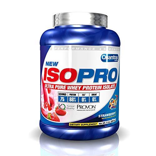 Quamtrax Proteina ISOPRO CFM Sabor Fresa - 2267 gr