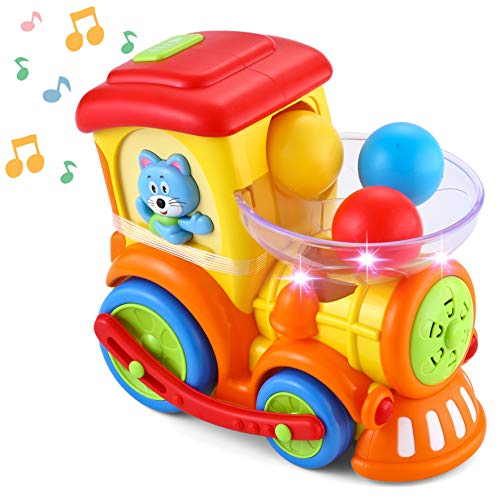 Buy Cheap JOYIN Ball Popper Toy For Toddlers Pitch & Go Ball Rolling train toys Infant Toy Car with ...