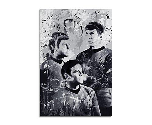 Star Trek Art 90x60cm - Wandbild als Kunstbild Malerei Fotoleinwand fertig auf Keilrahmen direkt vom Künstler