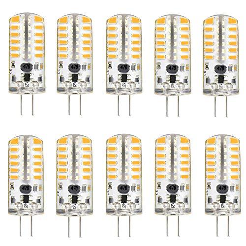 KINGSO G4 LED Bulb 10 Pack 3W Bi-Pin LED Light Bulb 48