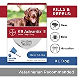 K9 Advantix II Flea And Tick Prevention for Dogs, Dog Flea And Tick Treatment For Extra Large Dogs...