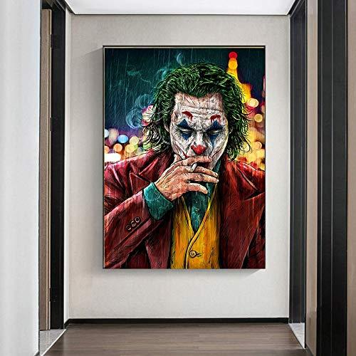 Filmster lelijk olieverf canvas poster woondecoratie schilderij lelijke comic wall art frameloze schilderij 75x112cm