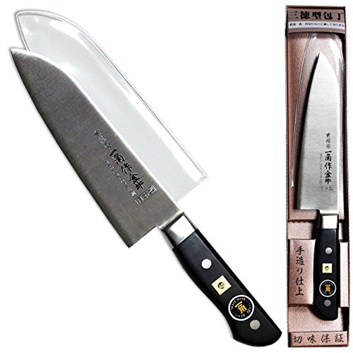 "1 Piece of Japanese IKKAKU 6.75"" Blade Santoku All-Purpose Stainless Steel Knife"