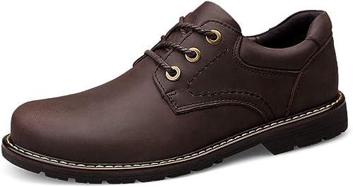 Formal, Flat, Breathable Bottes de Cheville élégantes et Confortables pour Hommes Décontracté Décontracté Simple Bas Classique Bottes extérieures avec Semelle extérieure Oxford chaussures for Hommes