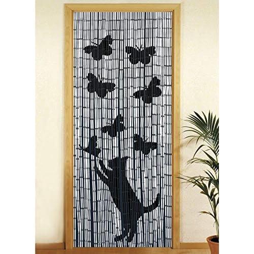 Wenko 5123015500 Tenda Fiori Rossi, Richiudibile, bambù, 200 x 90 cm, Multicolore