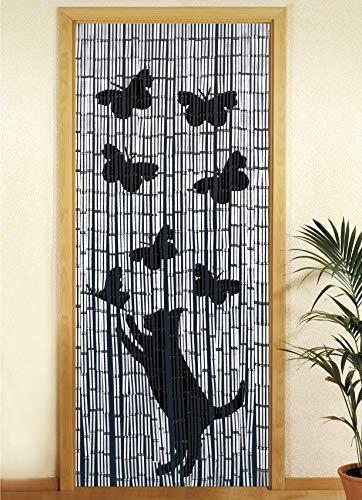 Wenko 819111500 bamboe gordijn zonsondergang, bamboe, meerkleurig, 200 x 90 x 0,2 cm