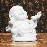 LKXZYX Buddha Statua brucia essenze Zen Giardino Grande incenso Buddismo Cinese delle sculture delle Statue di Buddha di Porcellana Bianca