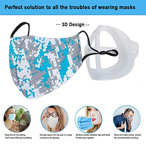 USPANIU 10 pcs 3D Face Bracket for Mask Comfortable Wearing Lipstick Protection by Creating More Space for Breathina Ideal Keep Fabric Off Makeup Saver