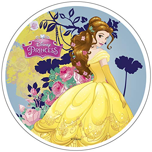 Belle Princess 20cm 8 inch eetbare Wafer Cake Topper. Gelicentieerd product. Modecor.