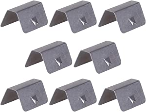 Fityle Pack Stainless Steel Car Wind Rain Deflector Sned Clips Fits for Heko