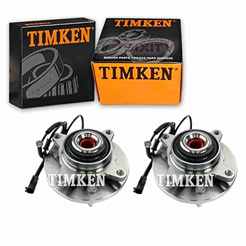 2 pc Timken Front Wheel Bearing Hub Assembly compatible with Ford F-150 2011-2014 Driveline Axle Axles Hubs