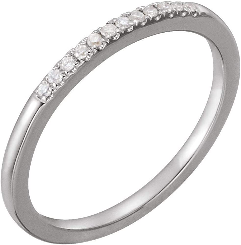 Solid Platinum .07 Cttw Diamond Band Ring 25% OFF 5 popular 1.5mm = Width