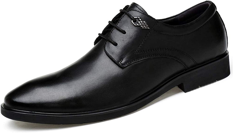 CHENDX Schuhe, Herrenmode Klassische Britische Art Business Oxford Casual Leder Krokodil Muster Schuhe (Farbe   Schwarz, Größe   41 EU)