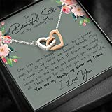 Personalized Necklace Gift - Forever Love Necklace, To My Sister on My Wedding Day, Thank You Letter...