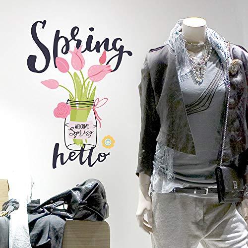 UVNC0069 Shop Raam Nieuwe Lente Collectie Ramen Winkel, Stickers, Muurstickers