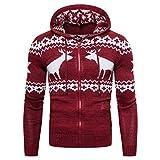 frauit maglione natalizio uomo renna cardigan uomini cappuccio zip inverno maglioni ragazzo invernali natale natalizi felpa felpe tumblr giacche giacca elegante slim fit inverno autunno