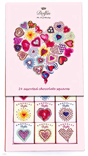 Dolfin Surtido de 24 Chocolates Carrè en Caja de Regalo Hecho en Bélgica - 1 x 108 Gramos