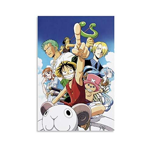 SSKJTC Decoración de la habitación del tema Anime ONE PIECE Luffy Character Abstracto Arte Pintura 20x30inch (50x75cm)