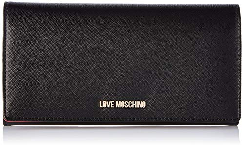 Love Moschino Damen JC5393PP18LQ0000 Geldbörse, Schwarz (Black), 3x13x24 Centimeters